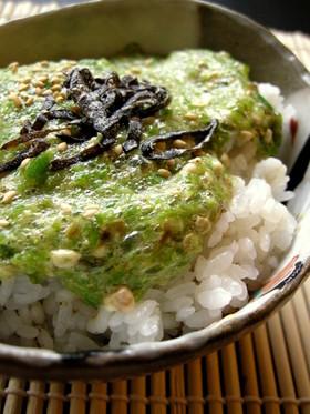 すりおろしオクラ丼@柚子胡椒風味