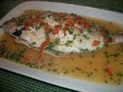 タイのにおいがする☆蒸し魚のレモンかけの写真