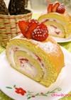 つぶつぶ苺のロールケーキ