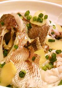 真鯛のアラの塩煮♪