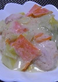 鶏の豆乳クリーム煮