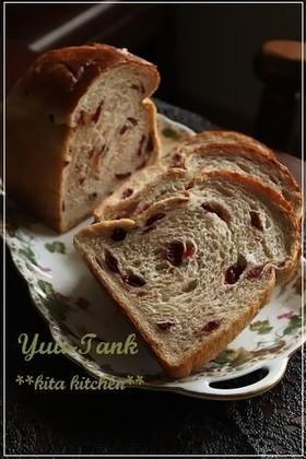 ライ麦配合~ワンローフでクランベリー山食