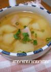 *じゃがいもとハムの中華スープ*