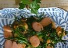 魚肉ソーセージニラキムチ炒め