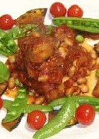 豚バラと大豆のトマト煮込み