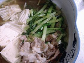 豚肉と京菜の鍋仕立て