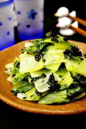 ぺろりと食べれる!青梗菜の海苔塩ニンニク