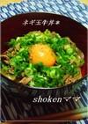 *うちのネギ玉牛丼♪*