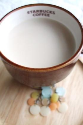 レンジで★スタバ★ほうじ茶ティーラテ