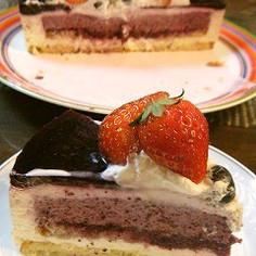 赤ワイン風味のブルーベリーチーズケーキ
