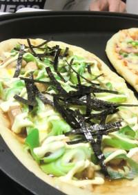 米粉inカリサクッ♪ホットプレートピザ
