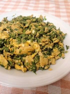 我が家の中華✿タラの芽と卵の炒め