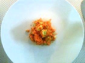 にんじんとアボカドのサラダ