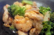 鶏胸肉とブロッコリーの塩炒め☆