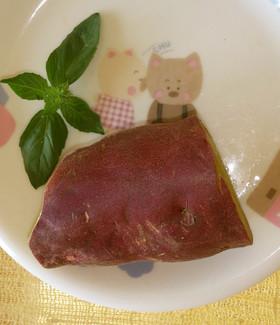 シリコンスチーマーで蒸かし芋(レンジ)