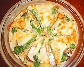 菜の花味噌ピザ