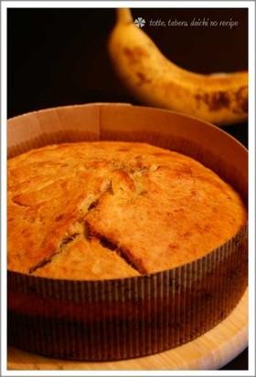 バナナが3本も入ったバナナブレッド