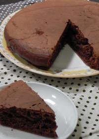 チョコレート生地のしっとりホットケーキ