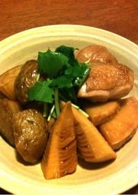 ☆筍、新ジャガ、鶏の煮物☆