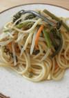 わらびの和風スパゲッティ