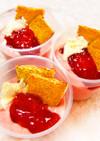 チーズケーキ風*イチゴパフェ
