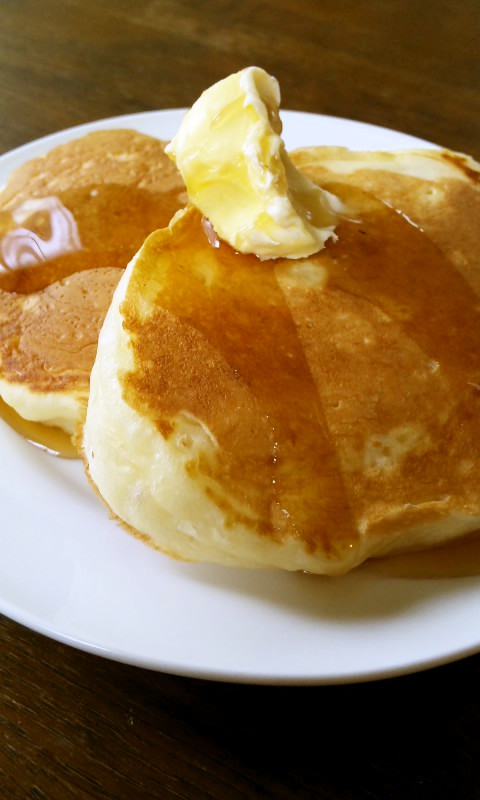 ふかふか♡強力粉のパンケーキ(イースト)