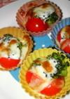 プチトマトとブロッコリーのミニグラタン☆