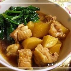 鶏肉と大根・ほうれん草の炒め煮