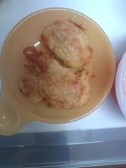 オートミールとコーンのお焼き〜離乳食後期の写真