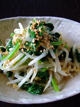 簡単☆もやしと小松菜のナムル