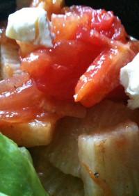 長芋トマトのさっぱりサラダ