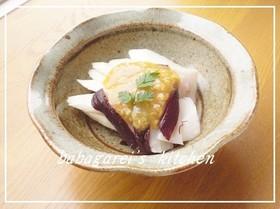 生ウドとタコの酢味噌かけ