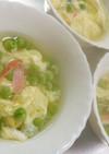 グリーンピースの卵とじなスープ