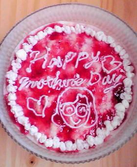 母の日デコアイスケーキ