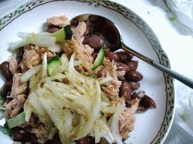 野菜をおいしく:金時豆とツナのサラダ