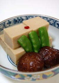 どんこde高野豆腐の含め煮
