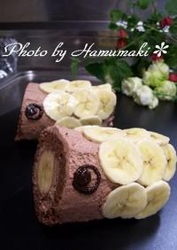 こどもの日!チョコバナナ鯉のぼりケーキ♪