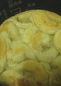 炊飯器とレンジで!林檎のパン♥