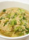 シャキシャキレタスのつみれスープ