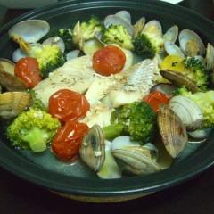 ☆白身魚と野菜のワイン蒸し☆