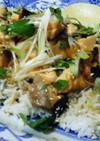 大皿料理♪ 照り焼きサーモンライス