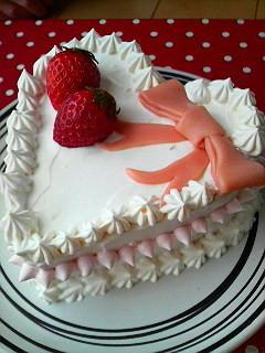 母の日に♪卵1個で簡単ハートケーキ