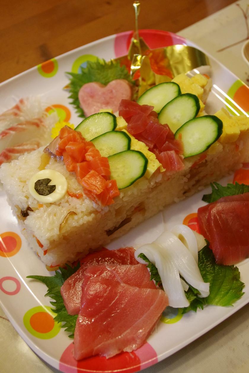 鯉のぼりの押し寿司☆2011年Ver.