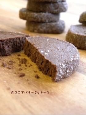☆簡単*ココアバタークッキー☆