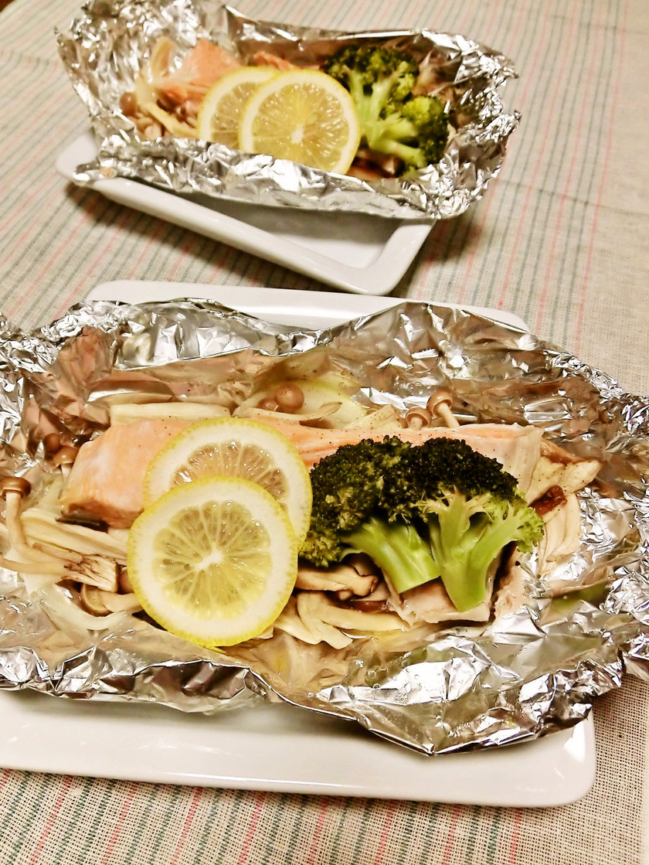 フライパンで簡単☆生鮭のホイル焼き♪
