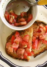 ぱぱっと美味しいトマトのブルスケッタ♪