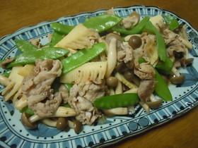 豚肉と筍のオイスターソース炒め