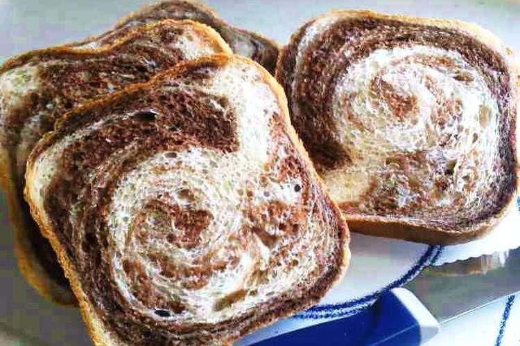 食パン マーブル マーブル食パン(折り込みパン)のレシピ/作り方