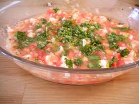 海老のセビーチェ(メキシコ料理)