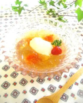手作り温泉卵のフルフルゼリープチトマト